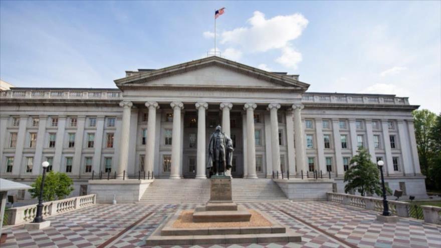 El edificio del Departamento del Tesoro de Estados Unidos en Washington, la capital.