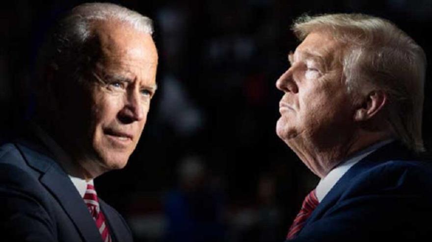 Los candidatos a la Presidencia de EE.UU., el actual mandatario, Donald Trump (dcha.) y su rival demócrata, Joseph Biden.