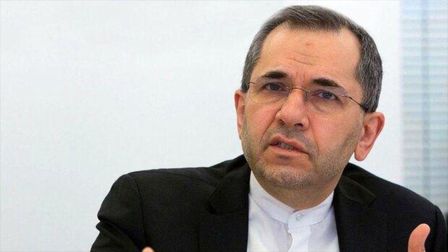 El representante permanente de Irán ante las Naciones Unidas, Mayid Tajt Ravanchi.