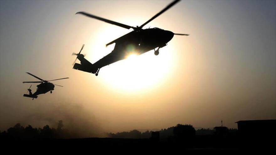 Vídeo: Convoy de EEUU patrulla noreste sirio escoltado por helicópteros