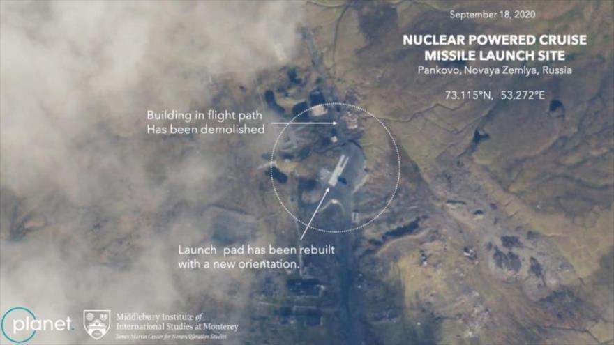 Imágenes satelitales indican que Rusia se prepara para reanudar las pruebas de su misil de crucero de propulsión nuclear.