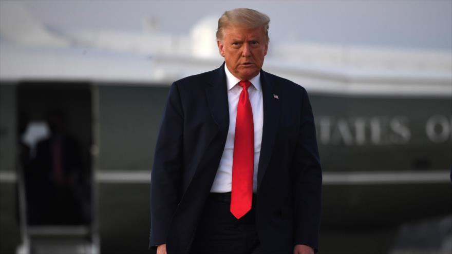 El presidente de EE.UU., Donald Trump, en la Base Conjunta Andrews, en Maryland, 20 de octubre de 2020. (Foto: AFP)