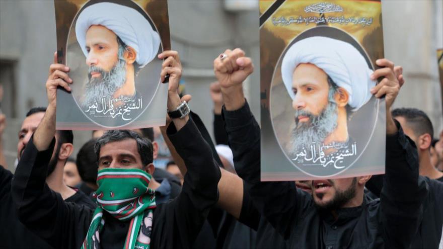Protestan en la provincia Oriental, este de Arabia Saudí, por la ejecución de Nimr Baqer al-Nimr, destacado clérigo chií. (Foto: AFP)