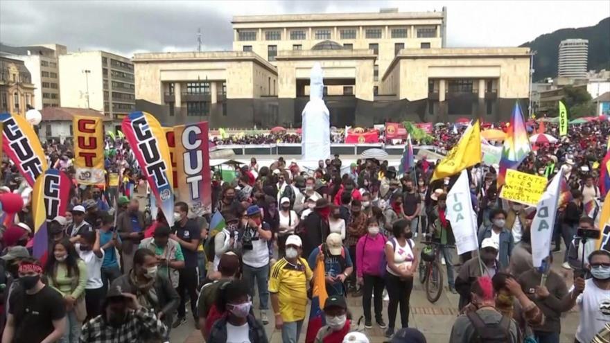 Paro nacional en ciudades de Colombia contra políticas de Duque
