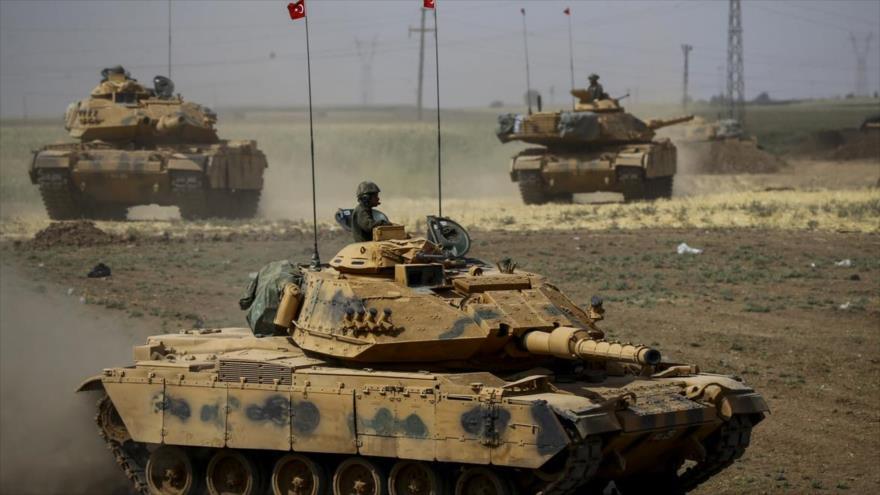 Fuerzas turcas durante una maniobra militar