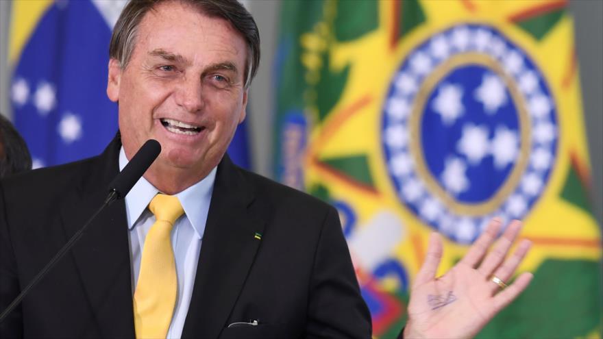 El presidente brasileño, Jair Bolsonaro, durante un evento en Brasilia (capital), 19 de octubre de 2020. (Foto: AFP)