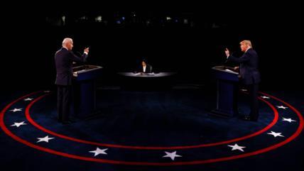 Biden y Trump chocan con sus visiones opuestas en el último debate