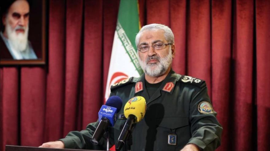 El portavoz jefe del Estado Mayor de las Fuerzas Armadas de Irán, el general de brigada Abolfazl Shekarchi.