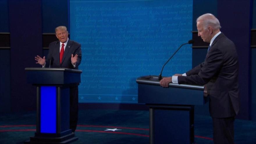 Trump y Biden protagonizaron el último debate presidencial de EEUU