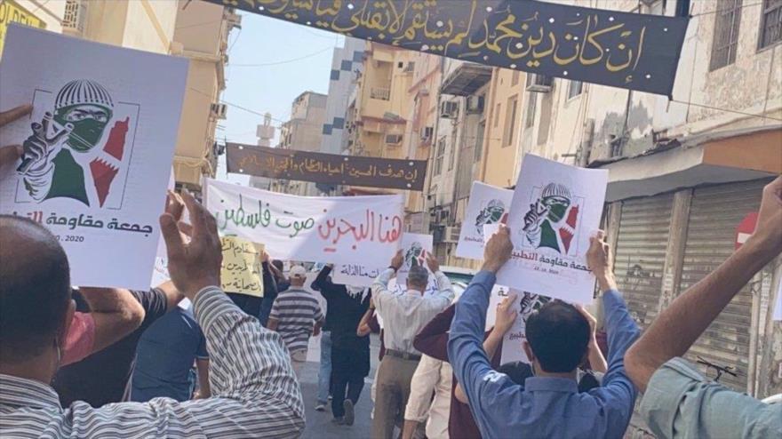 Bareiníes protestan contra normalización con Israel pese a represión