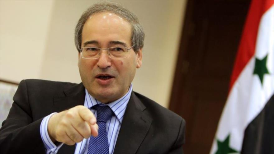 El viceministro sirio de Asuntos Exteriores, Faisal al-Miqdad.