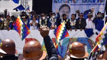Arce celebra victoria con ritual andino en bastión de Evo en Bolivia