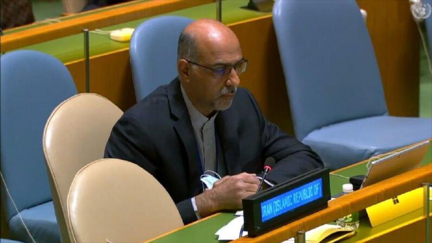 El representante de Irán en la tercera Comisión de la Asamblea General de las Naciones Unidas (AGNU), Mohamad Zareian.