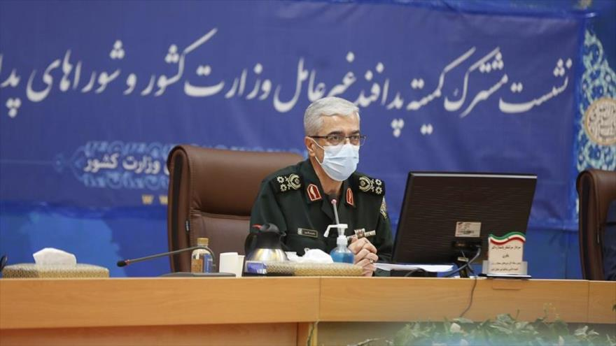 El jefe del Estado Mayor de las Fuerzas Armadas de Irán, el general de división Mohamad Hosein Baqeri, en un acto en Teherán, 26 de octubre de 2020. (Foto: moi.ir)