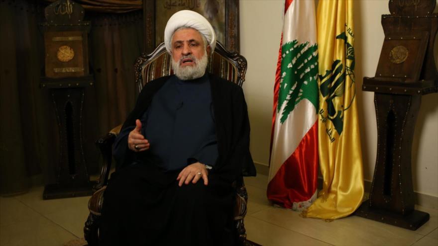 El vicesecretario general del Movimiento de Resistencia Islámica de El Líbano (Hezbolá), el sheij Naim Qasem.