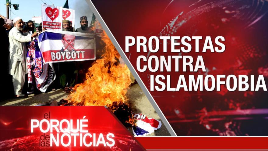 El Porqué de las Noticias: Islamofobia de Macron. Elecciones 2020. Viaje de oposición venezolana a España