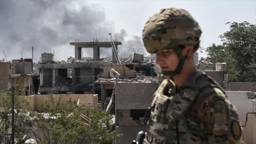 Un soldado estadounidense en la ciudad iraquí de Mosul, 21 de junio de 2017. (Foto: AFP)