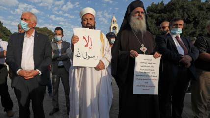 Líderes religiosos palestinos condenan la islamofobia de Macron