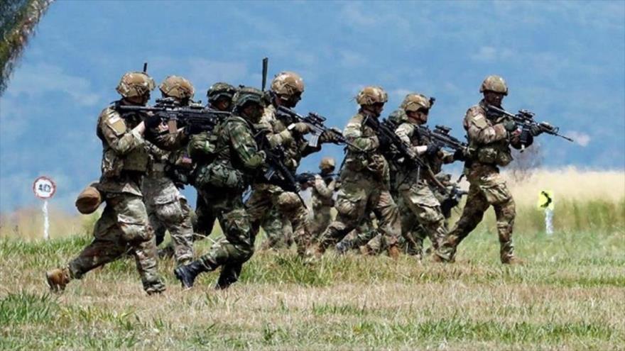 Fuerzas de EE.UU. y Colombia durante una operación militar, 1 de junio de 2020. (Foto: EFE)