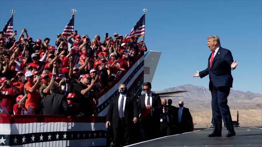El presidente de EE.UU., Donald Trump, en mitin Make America Great Again, en Goodyear, Arizona, 28 de octubre de 2020. (Foto: AFP)