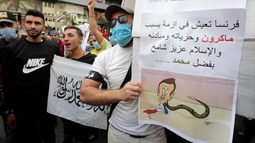 Protestas en países islámicos contra blasfemia por Francia | HISPANTV