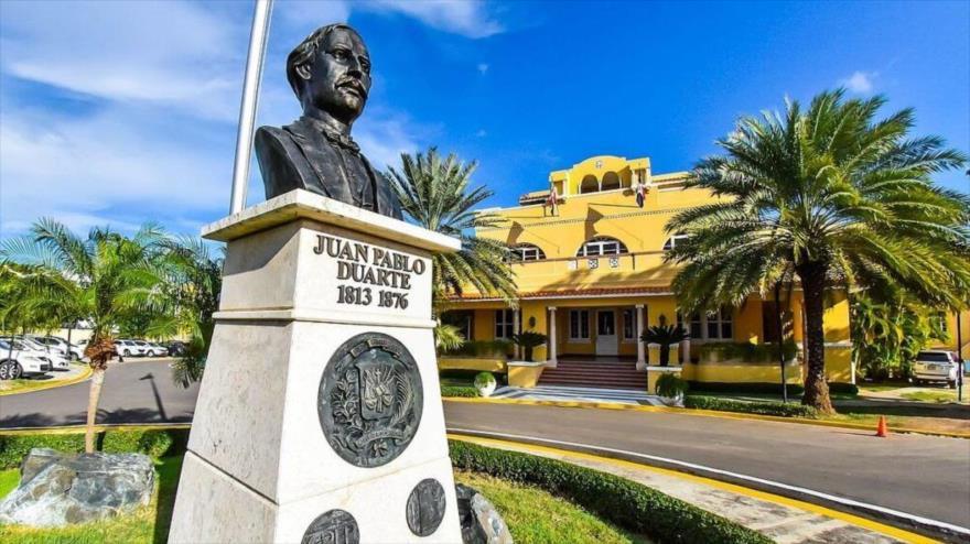 Vista de la sede de la Cancillería de la República Dominicana.