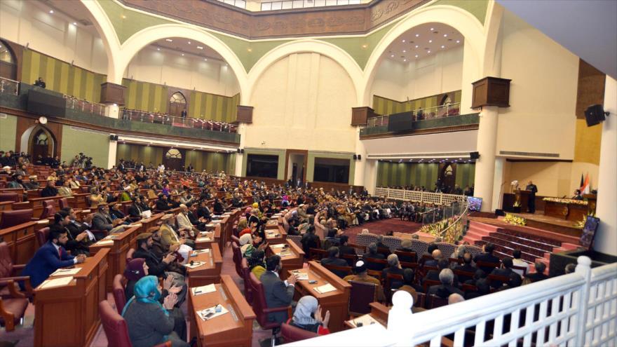Una sesión pública del Parlamento de Afganistán.