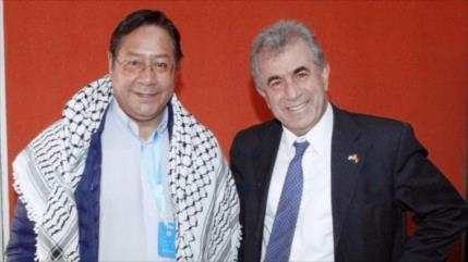 Arce expresa el sólido apoyo de Bolivia a la causa palestina
