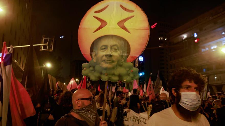Miles de israelíes vuelven a exigir la renuncia de Netanyahu
