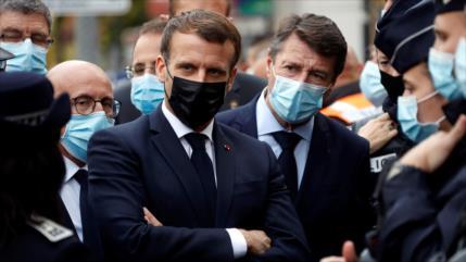 """Macron denuncia postura """"belicosa"""" de Turquía ante países de OTAN"""
