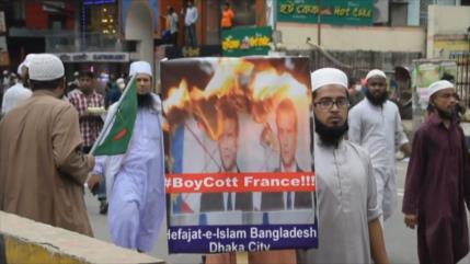 Continúa la ola de protestas en los países musulmanes contra Macron
