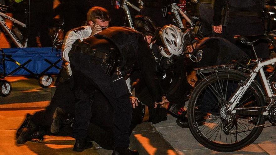 Vídeo: enfrentamientos en protestas frente a la Casa Blanca