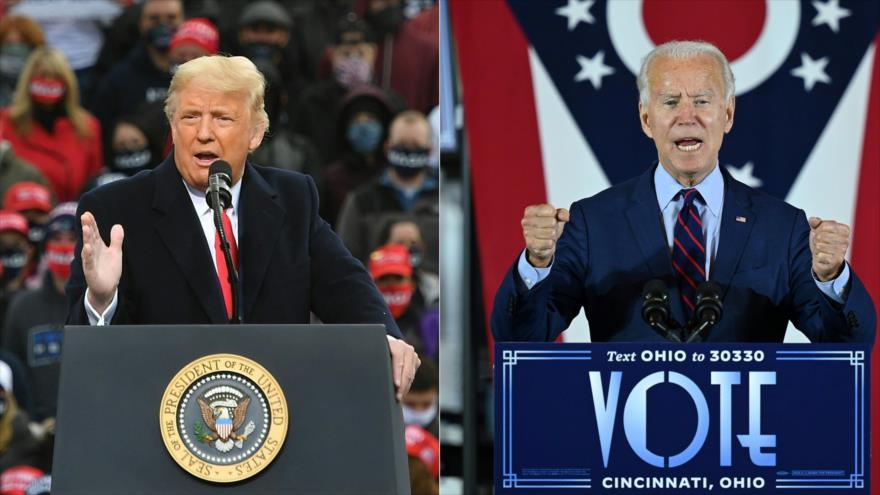 Candidatos a la Presidencia de EE.UU.: el demócrata Joe Biden (dcha.) y el republicano Donald Trump.