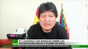 Morales vuelve a criticar la mala gestión del gobierno de facto