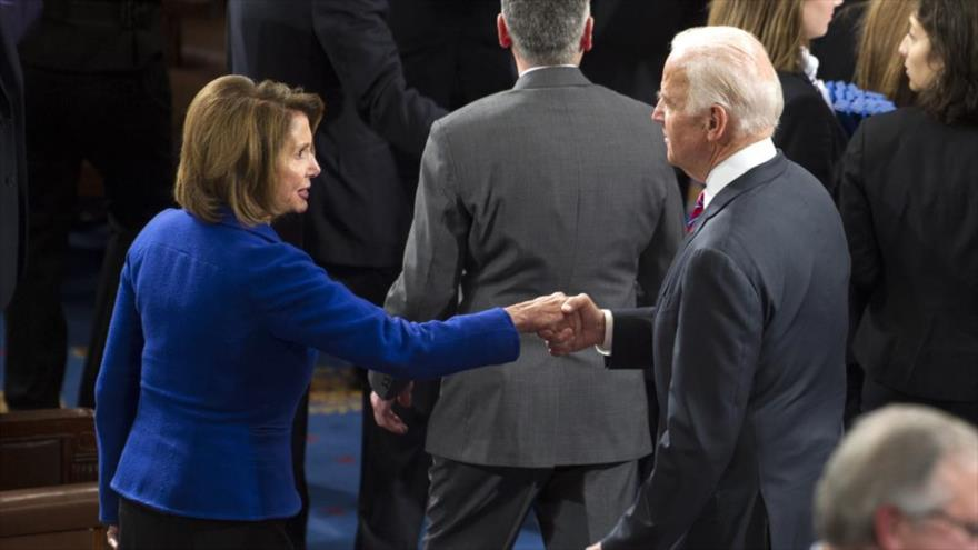 """Líder demócrata Nancy Pelosi llama a Biden """"presidente electo""""   HISPANTV"""