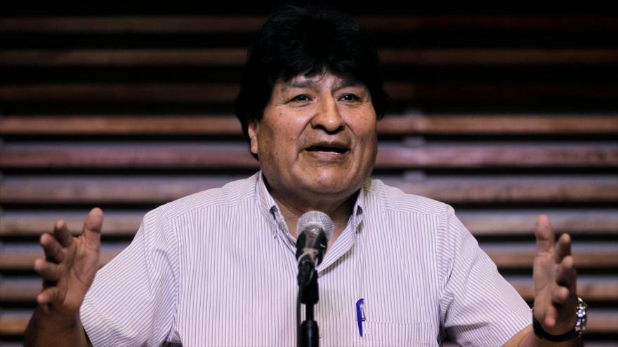 El expresidente boliviano, Evo Morales, ofrece una rueda de prensa en Buenos Aires, 3 de noviembre de 2020. (Foto: AFP)