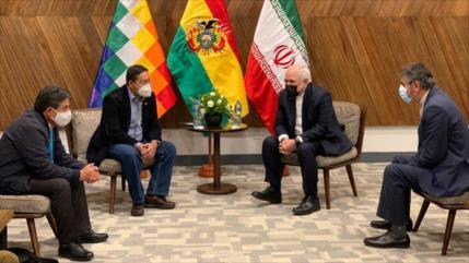 El canciller iraní se reúne con el presidente electo de Bolivia