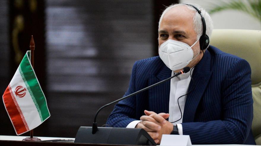 El canciller iraní, Mohamad Yavad Zarif, en una reunión en La Habana, capital cubana, 6 de noviembre de 2020. (Foto: AFP)
