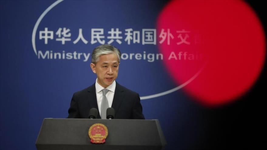 El portavoz del Ministerio chino de Asuntos Exteriores, Wang Wenbin.