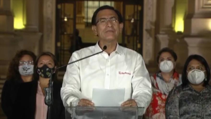 Día histórico en Perú: Vizcarra fue vacado por incapacidad moral | HISPANTV