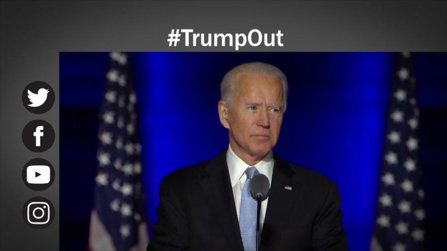 Etiquetaje: Tensión en EEUU; Biden y Trump se enfrentan por elecciones