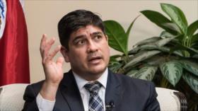 Presidente de Costa Rica alcanza nivel más alto de rechazo popular
