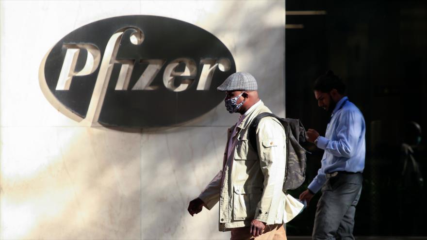 La sede mundial de la farmacéutica Pfizer en Nueva York, EE.UU., 11 de noviembre de 2020. (Foto: AFP)