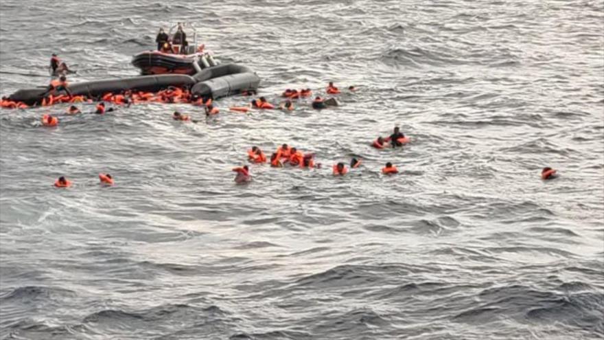 La operación de rescate de los migrantes en el Mediterráneo, 11 de noviembre de 2020.