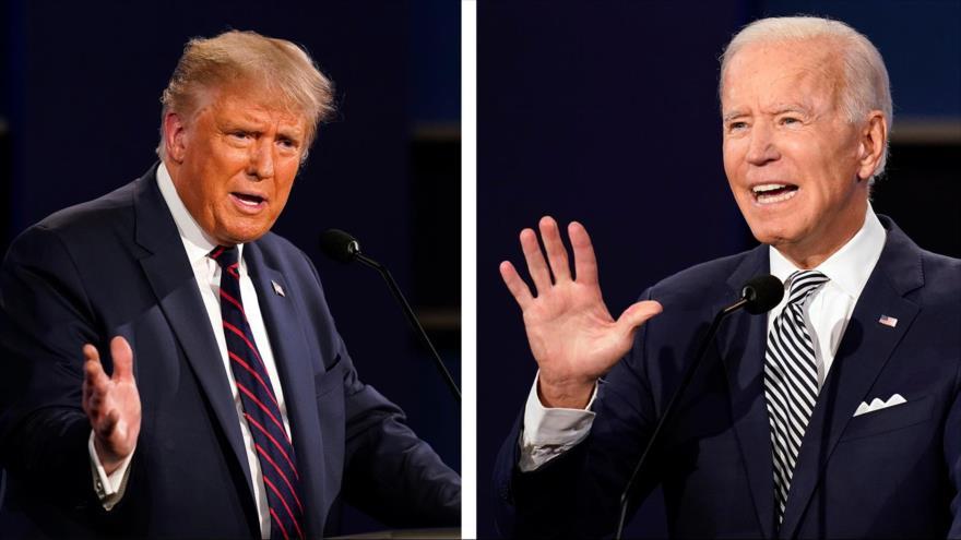 El candidato republicano a la Presidencia de EE.UU., Donald Trump (izq.), y el demócrata Joe Biden.