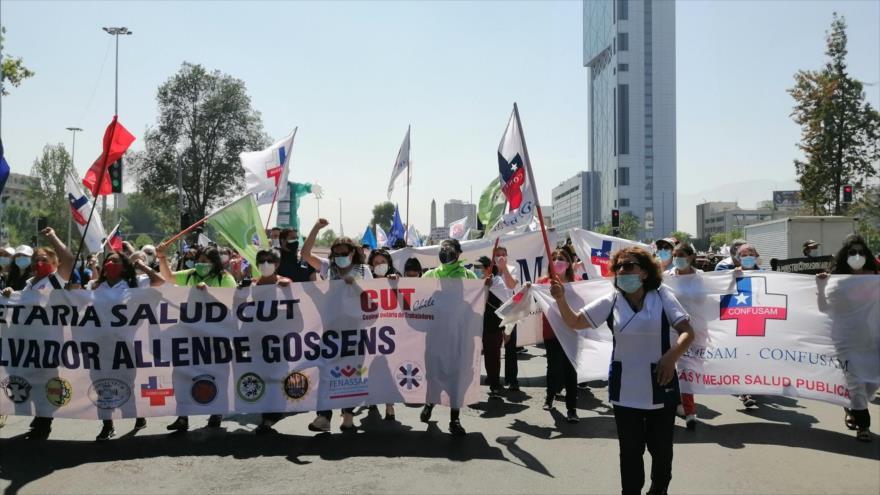 Sector de la Salud inicia paro general para exigir mejoras en Chile