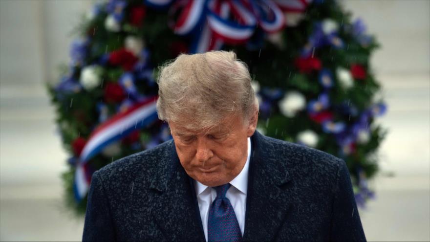 El presidente de EE.UU., Donald Trump, en Arlington, Virginia, 13 de noviembre de 2020. (Foto: AFP)