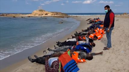 Mueren unos 100 migrantes en dos naufragios frente a costas libias