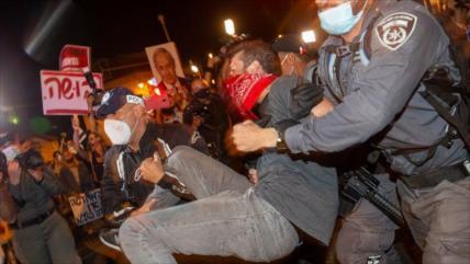 Al menos 18 detenidos en la nueva protesta contra Netanyahu