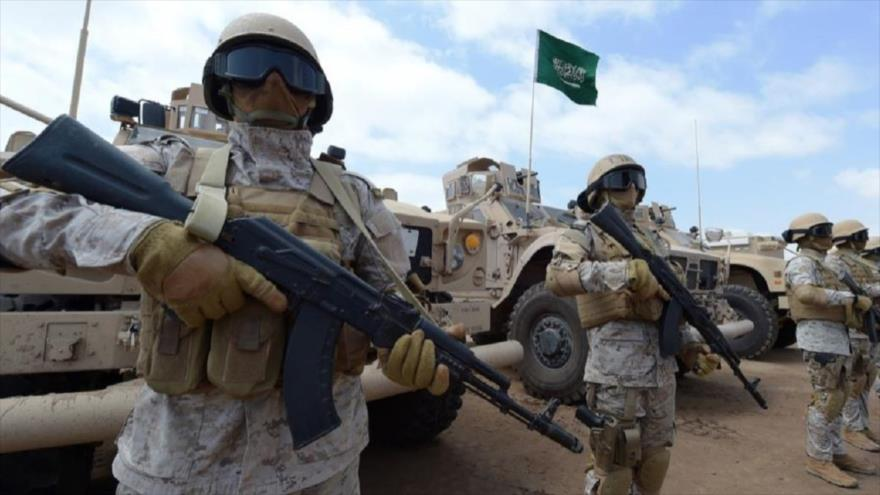 Soldados saudíes desplegados en Yemen.